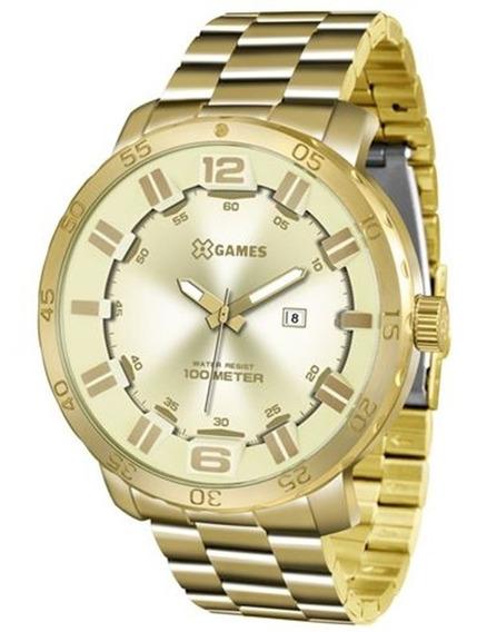 Relógio X-games Masculino Dourado Aço Xmgs1022-c2kx