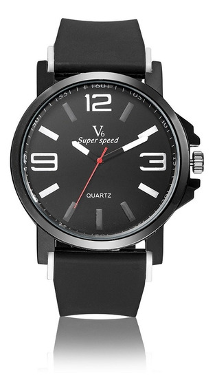 Relógio Quartz V6 Super Speed