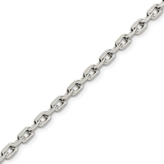 Cadena Plata925 Forcet Diamantada Maciza Hombre 3mm X 55cm