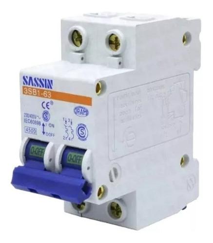 Llave Térmica - 2 Polos Sassin - 6-10-16-20-25-32 Amp.