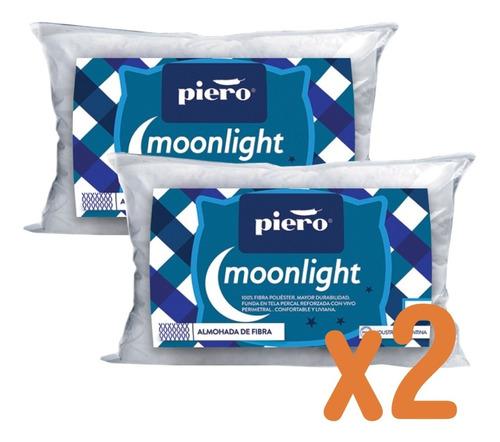 X2 Almohadas Piero Moonlight 70x40 Fibra De Poliéster