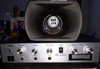 Amplificador Publicidad Con Bociana 12v Y 220v