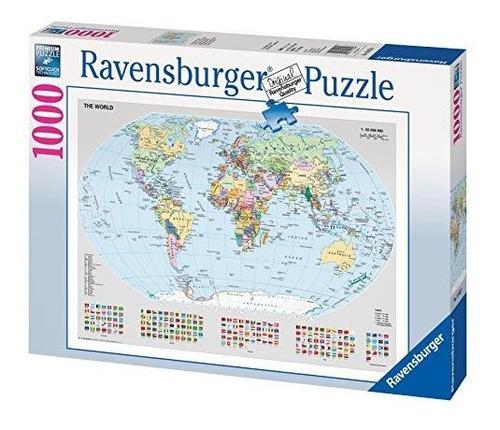 Ravensburger 15652 Mapamundi Politico  Puzzle De 1000 Piezas