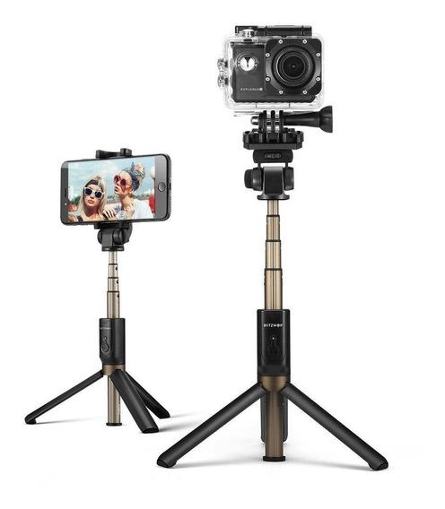 Bastão De Selfie Tripé Bluetooth 3-1 Blitzwolf Bw-bs3 - Pronta Entrega