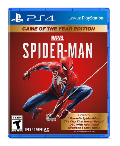 Spiderman Game Of The Year Edition Goty Ps4 Playstation