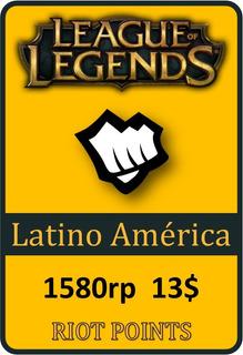 Tarjeta De Recarga De League Of Legends - 1580 Riot Points