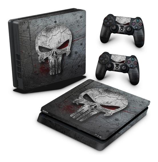 Skin Ps4 Slim Adesivo Playstation 4 Punisher Justiceiro B