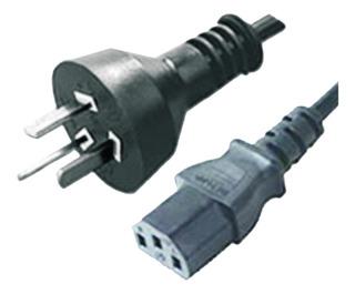 Cable Power Interlock Pc Monitor Cpu Fuente Computadora