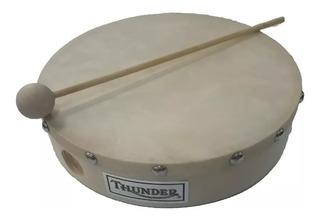 Pandero 20 Cm Thunder Jb908p Madera Con Parche Y Golpeador