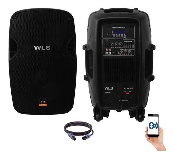 Kit Caixa De Som Ativa Passiva Wls S12 Bluetooth 430w Rms