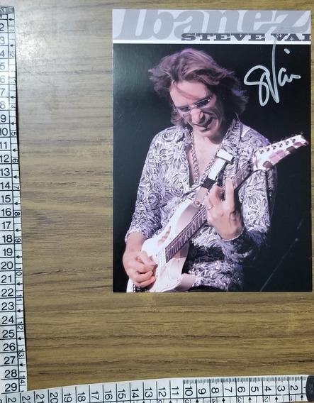 Foto Firmada X Steve Vai ( Whitesnake Satriani Halen ) Gtm