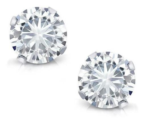 Brinco Feminino Prata 925 Com Diamante Cz