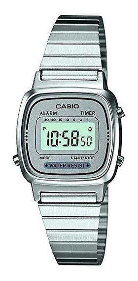Reloj Casio La670 Plateado Original