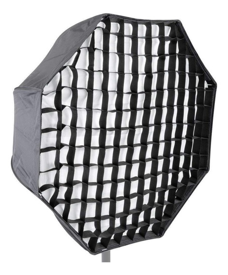 Octabox Softbox 120cm Universal Com Grid Tipo Sombrinha