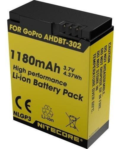 Bateria Gopro Go Pro Hero 3+ Ref. Ahdbt-302 Nitecore Nlgp3