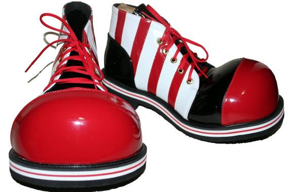 Zapatos De Payaso En Rojo - Blanco - Negro