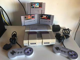 Consola Súper Nintendo Completa + 3 Juegos Nintendo Ntdf