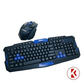 Kit Gamer Mouse E Teclado Sem Fio Wireless Xtrad -hk-8100