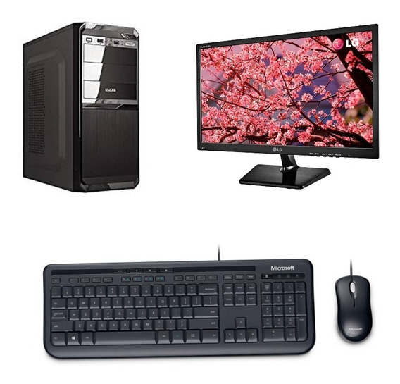 Computador I3-6100, 8gbddr4, 1tb Placa Asus, Monitor19,5