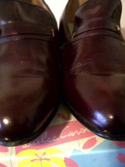 Zapatos Caballeros Clasicos Formales Color Guinda Nro.43.-