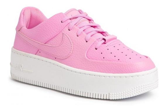 Zapatillas Nike Mujer Air Force 1 Sage Low Rosa Originales