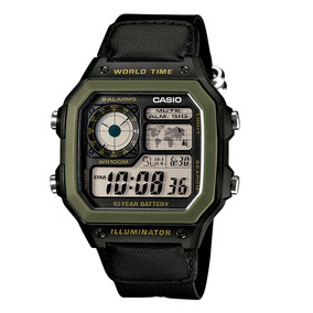 Relógio Casio Digital Original Ae1200whb1bv A Pronta Entrega