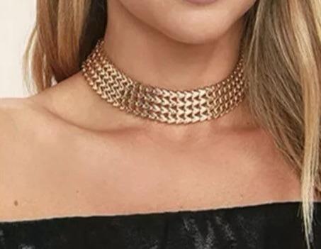 Gargantilha Colar Feminina Banhada Em Ouro 18k Dubai Moda