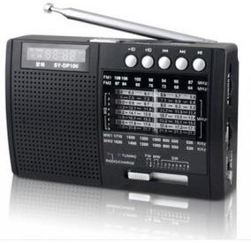 Rádio Shouyu Sy-x5 Am Fm Sw Com Mp3 E Dsp Cartão Tf 16gb