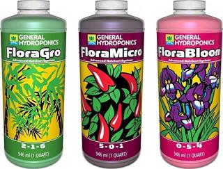 Fertilizantes De General Hydroponics Grow, Bloom Y Micro