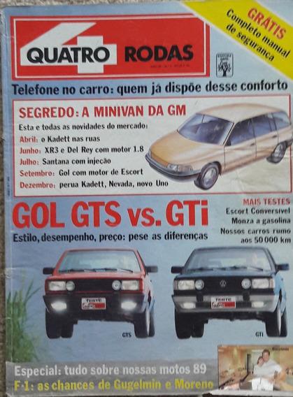 Quatro Rodas N° 343 Gol Gts Vs. Gol Gti
