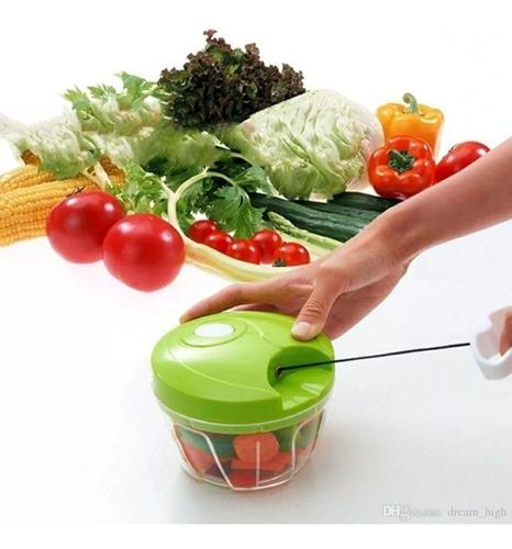 Imagem 1 de 10 de Mini Processador De Alimentos Manual Triturador Alho Legumes