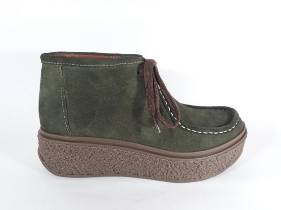 Botita Botineta Zapato Wallabies Cuero Mujer Plataforma