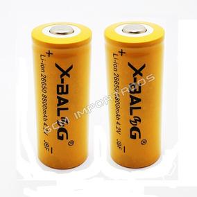 2x Bateria Pilha Gold Recarregável 26650 4.2v Li-ion 8800mah