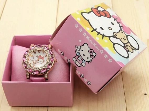 Relógio Feminino Hello Kitty Infantil Com Caixa