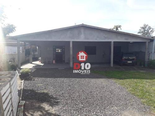 Casa Com 2 Dormitórios À Venda, 90 M² Por R$ 220.000 - Polícia Rodoviária - Araranguá/sc - Ca1777