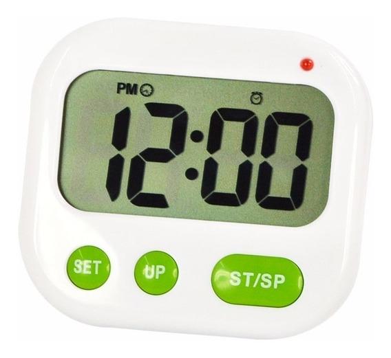 Timer Cozinha Digital Cronômetro Regressivo Com Relógio