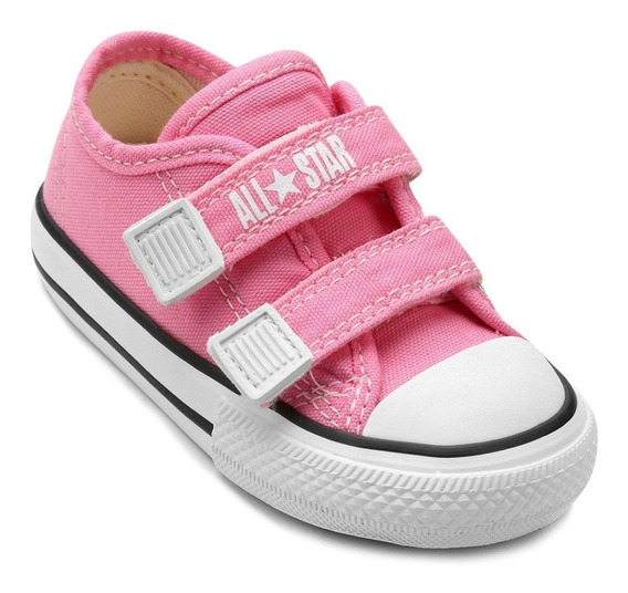 Tenis All Star Converse Infantil Border S/ Cadarço Rosa Baby