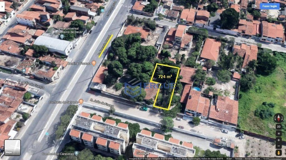 Terreno Para Alugar, 724 M² Por R$ 2.000,00/mês - Itaperi - Fortaleza/ce - Te0009