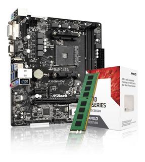 Combo Actualización Pc Amd A10 + Hdmi + 8gb Ddr4 + A320