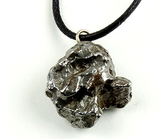 Collar Auténtico Meteorito De Suspensión Caja Cofre Del Tes
