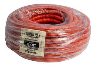 Caño Corrugado Flexible Naranja 3/4 Cable Electrico