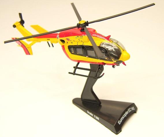 Miniatura Helicóptero Bombeiros Eurocopter Ec 145 Airbus