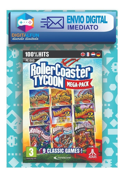 Roller Coaster Tycoon 1, 2 E 3 (mídia Digital)