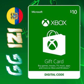 Xbox Gift Card $10 - Tarjeta De Regalo Xbox