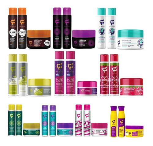 Imagem 1 de 10 de Kit Mix 12 Produtos Fashion Shampoo Condicionador Máscara