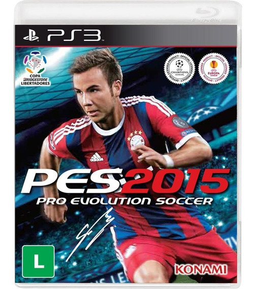 Game Play3 - Pes 2015 - Semi-novo Jogo Ps3