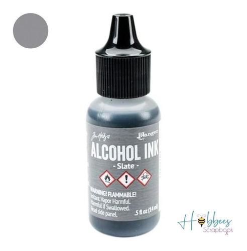 Pintura Al Alcohol Tim Holtz Gris Tinta Arte Vidrio Papel