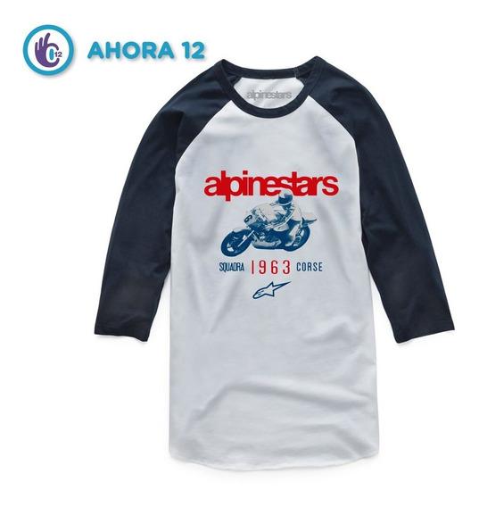 Remera Manga 3/4 - Roller Tee - Alpinestars Moto
