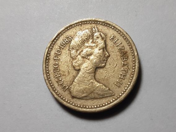 Reino Unido 1 Libra, 1983 Km# 933 Níquel-latón Lote 3576