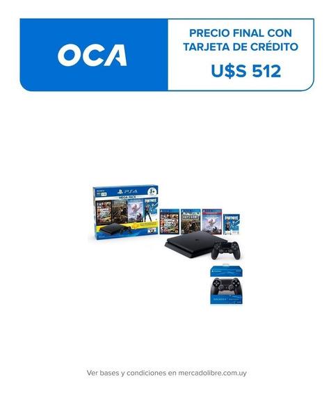 Playstation Ps4 Slim 1 Tb Mega Pack 6 + Control Extra- Nuevo